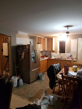Kitchen as the renovations begin