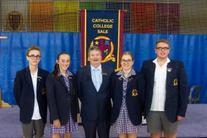 Principal Chris Randell with the 2018 School Captains and Sion Campus Captains