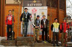 Conor McGovern, far right. 6th place Medium Distance Classic
