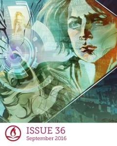 cover of Fireside Issue 36 with art by Galen Dara