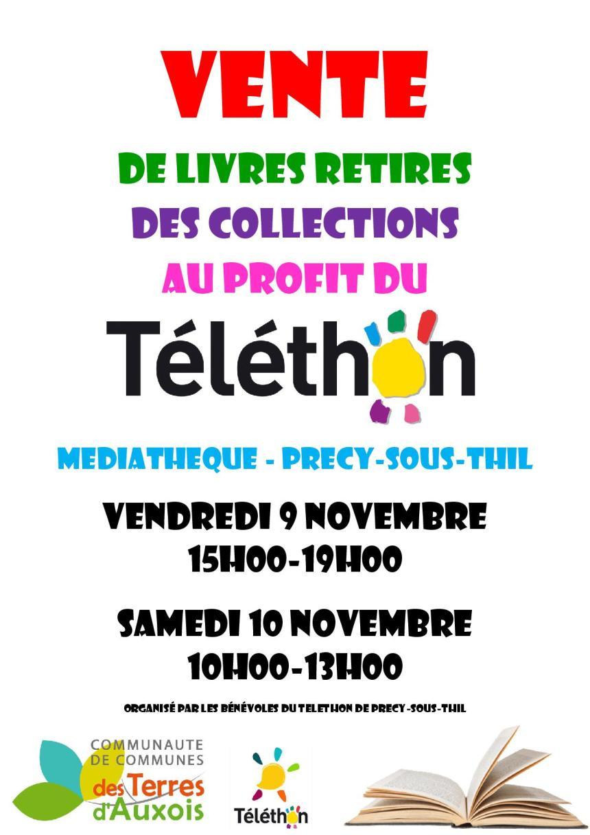 Vente de livres retirés des collections au profit du Téléthon