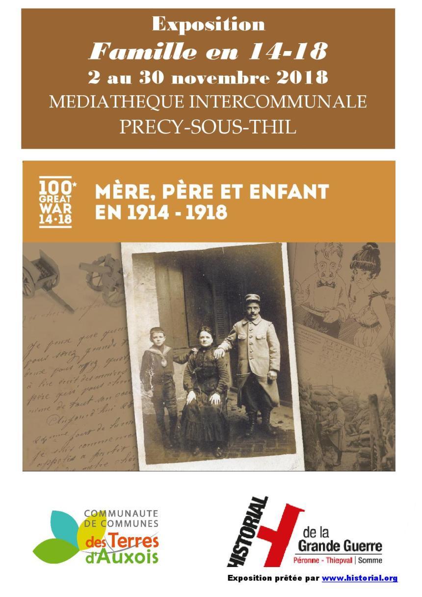 Exposition Famille en 14-18 – Médiathèque Intercommunale Précy