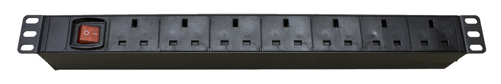 1u 19 rack mount 7 way power distribution unit pdu for uk plug sockets