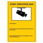 Cartel de plástico Homologado Serigrafía Zona Videovigilada