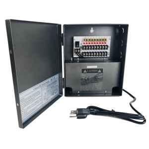 CCTV Power Supply Box, 12V DC 9ch, UL Listed
