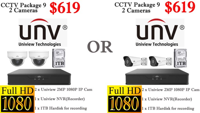 Uniview 2MP 2 Cameras Package