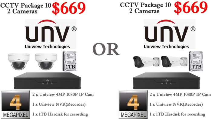 Uniview 4MP 2 Cameras Package