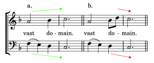 Hypothetical parallel octaves in a hymn harmonization