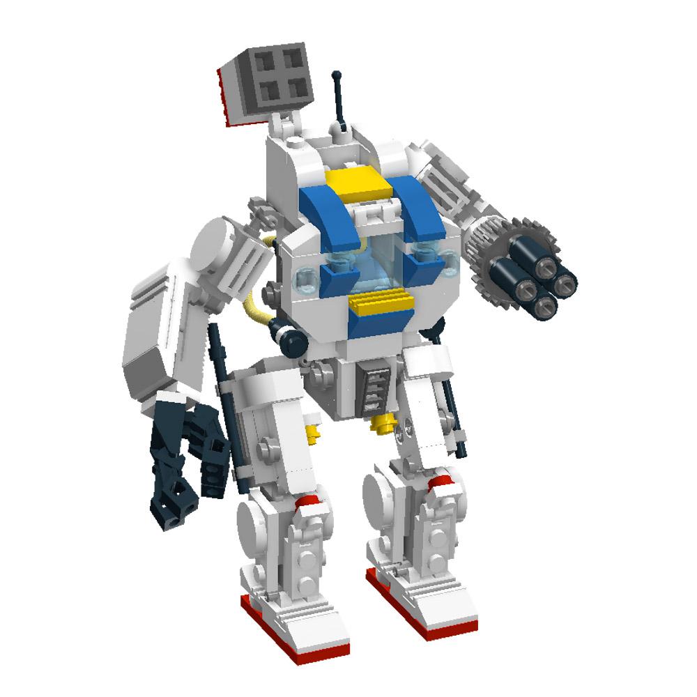 LEGO MOC Mecha - render