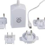 Raspberry Pi Model B+ OFFICIAL 5V 2A Multi National Power adapter