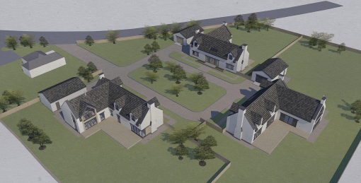 Rural Steading Development, New build houses, Allanton, North Lanarkshire