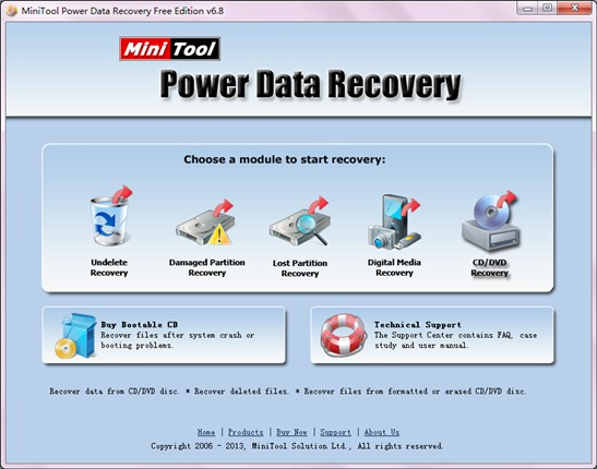 Recover lost files in CD