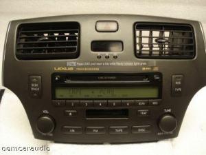 2002 2003 LEXUS ES300 Radio TAPE 6 Disc CD Changer P6816