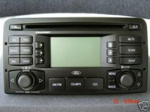 03 04 Ford Focus Radio Stereo CD Player MP3 Blaupunkt OEM