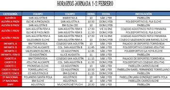Horarios Agustinos