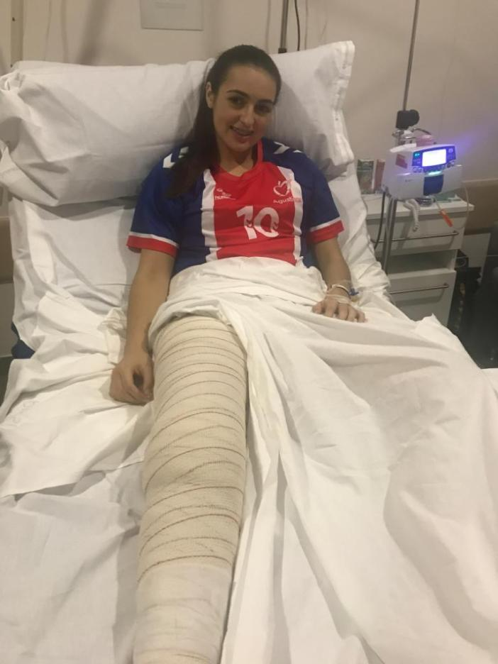 María Carrillo tras ser operada