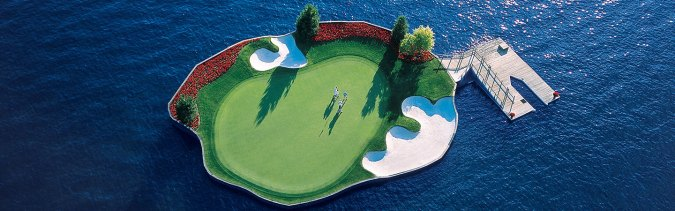 Coeur d Alene Golf   The Floating Green at The Coeur d Alene Resort     Coeur d Alene Golf   The Floating Green at The Coeur d Alene Resort Golf  Course