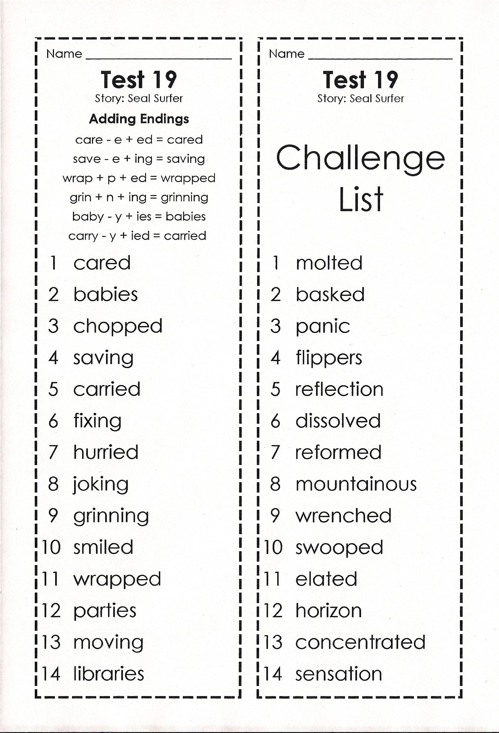 Goodale Johnna Spelling Words