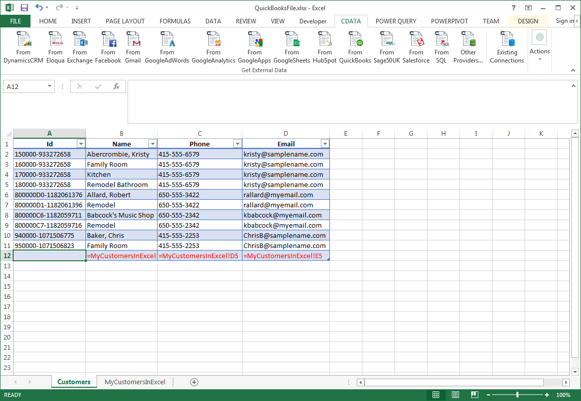 Transfer Data From Excel To Contacts