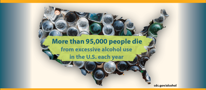 More than 95,000 people die from excessive alcohol use in the U.S. each year.