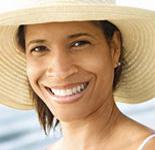 Photo: Woman wearing large hat