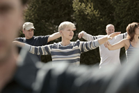 Photo: adults exercising