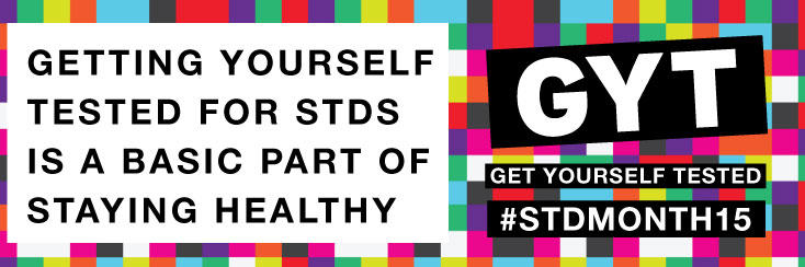 Banner for STD Awareness Month 2015
