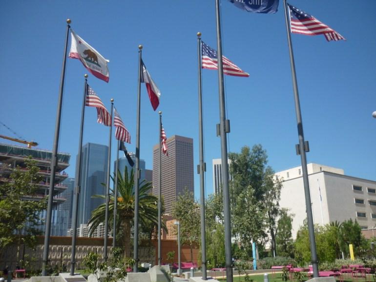 drapeau américain los angeles