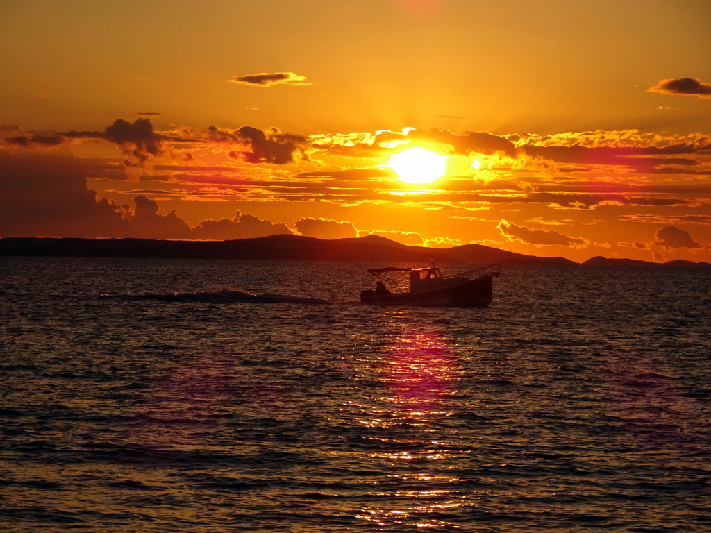 coucher du soleil zadar