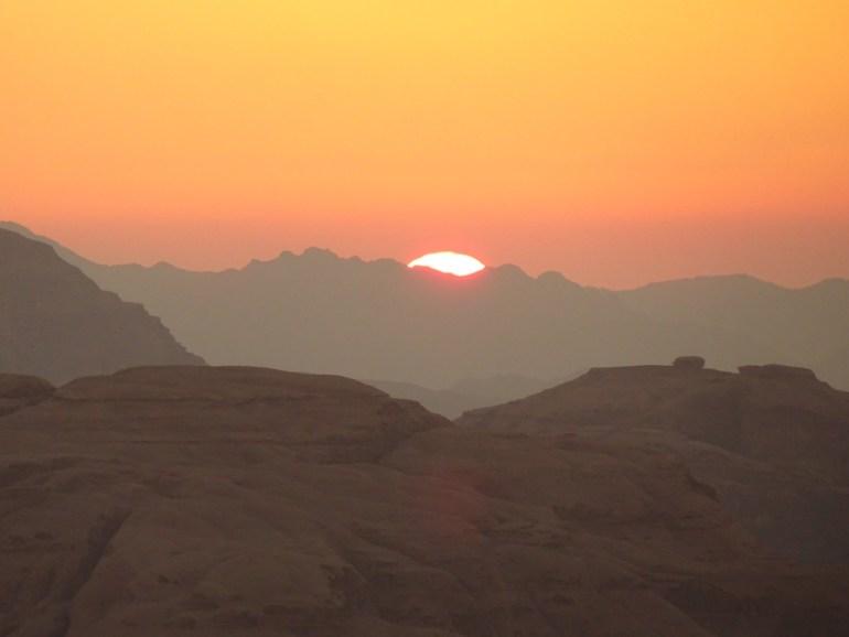 coucher du soleil en jordanie