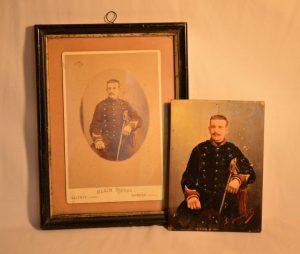 Louis VERNANCHET (XIX): Portrait de soldat