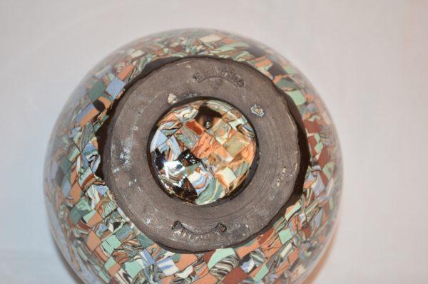 Gerbino Vallauris: Vase boule Pique-Fleurs