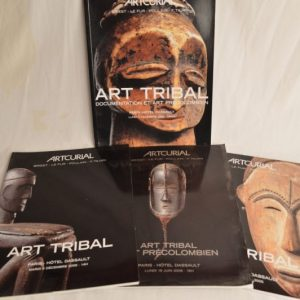 Artcurial: 4 Catalogues de ventes sur l'art Tribal