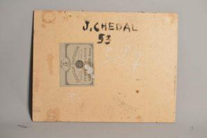 """Jean CHEDAL (1904-?) - Nature morte """"les deux barques"""""""