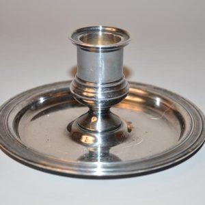 Christofle: bougeoir de table à une lumière en métal argenté