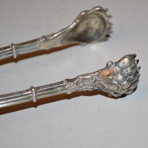 Pince à sucre en argent à décor ajouré . Début du XIXe siècle