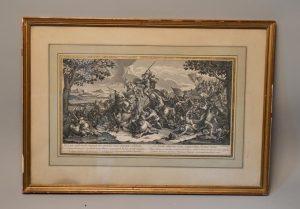 Charles Lebrun (d'après) : Scène de batailles