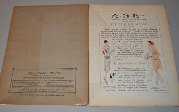 Art, goût, beauté- feuillets de l'élégance féminine Paris -Août 1928