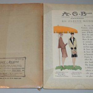 Art, goût, beauté- feuillets de l'élégance féminine Paris- Avril 1927