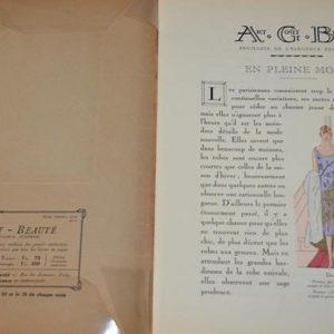 Art, goût, beauté- feuillets de l'élégance féminine Paris-Mars 1926
