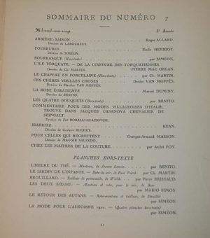 Revue mensuelle Gazette DU BON TON (N°7-1920- 3e Année)