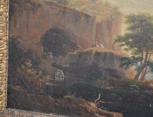 Tableau - Ecole française du XIXe siècle. Paysage de bord de mer et pèlerinage
