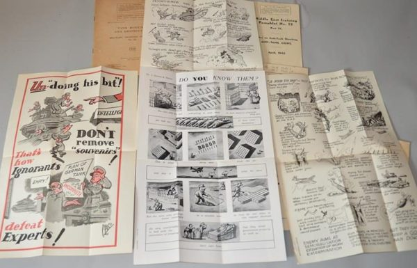Brochures -instructions militaires -British War Office - Seconde Guerre mondiale