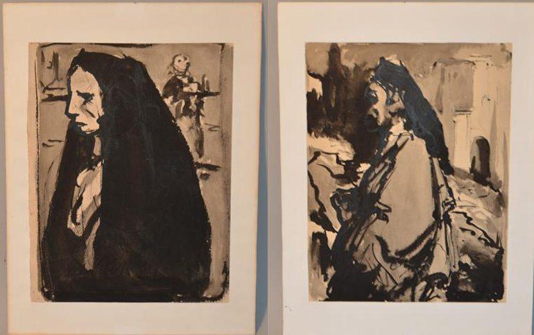 Marcel FEGUIDE (1888-1968) – Dessin – peinture – artiste – peintre