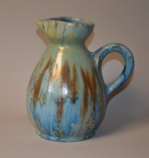 Pierrefonds - Vase pichet en grès, émaux cristallins