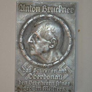 Plaque commémorative du compositeur Anton Bruckner