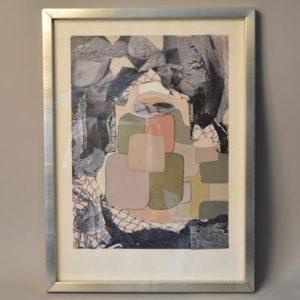 André CIPRIANI (XX) - Visionneux - Composition de gouache et collage