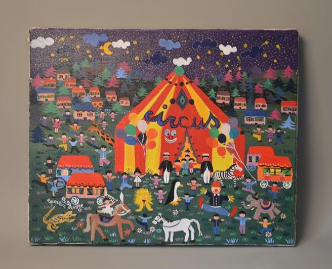 Anne GUERRIN – circus – Tableau naïf