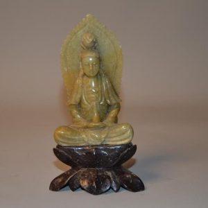 Bouddha Tibétain - Petite divinité en pierre dure