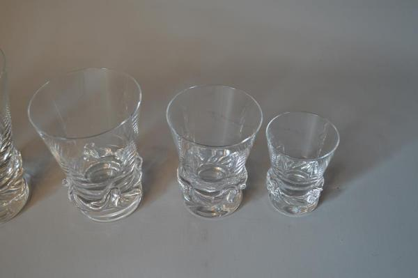 Daum France - Service de verres en cristal - modèle Sorcy